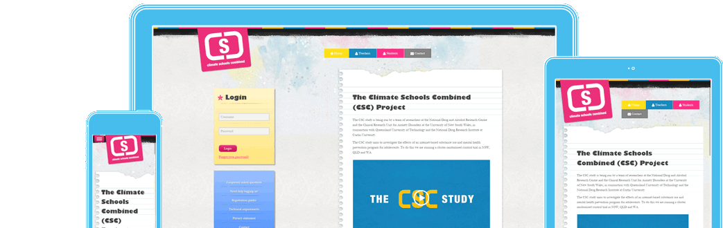 Climate Schools in responsive design