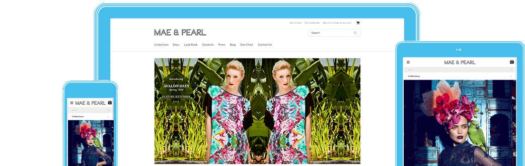 Mae and Pearl in responsive design