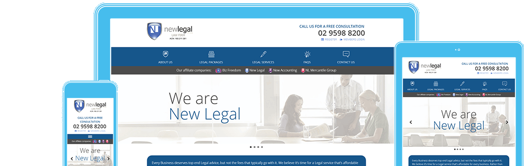 New Legal in responsive design