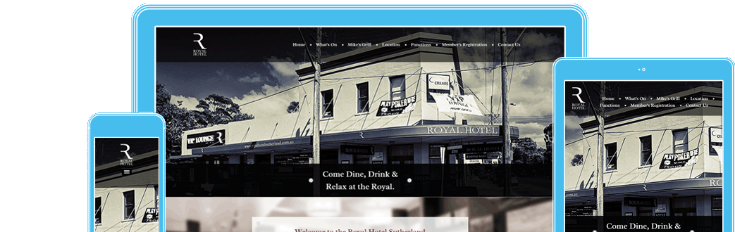 Royal Hotel Sutherland in responsive design